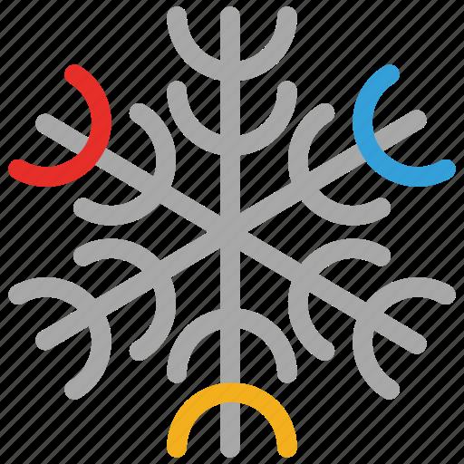 flurries, forecast, snow, snowflake, weather icon