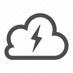 bolt, cloud, cloudy, forecast, lightning, weather icon