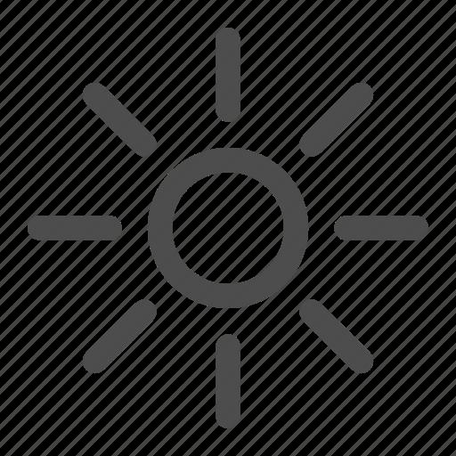 hot, light, medium light, summer, sun, sunshine, weather icon