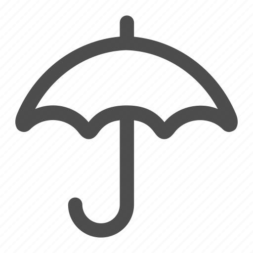rain, raining, umbrella, weather icon