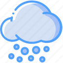 cloud, snow, snow flake, snowfall, weather icon