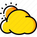 cloud, cloudy, sunny, weather icon
