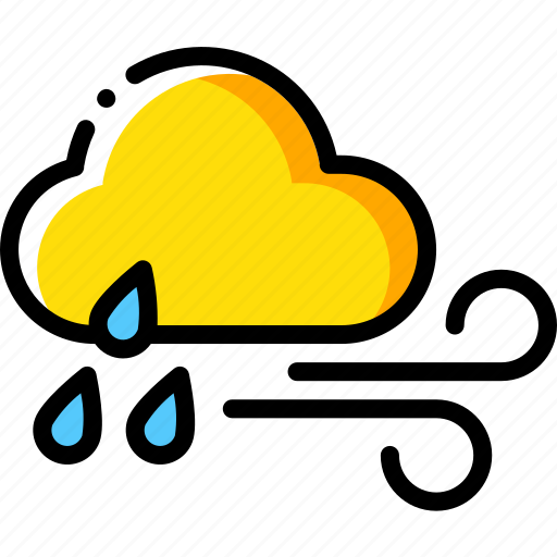 Cloud, rain, weather, wind, windy icon - Download on Iconfinder