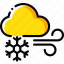 cloud, icy, snow, snowflake, weather, winds icon