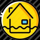 flood, warning, weather icon
