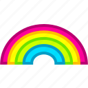 rainbow, summer, sun, sunny, weather icon