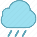 cloudy, forecast, rain, raining, rainy, weather icon