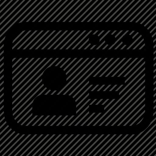 cv  online  personal information  portfolio  profile