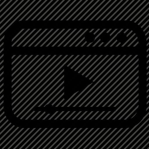film, media, movie, player, stream, video, youtube icon