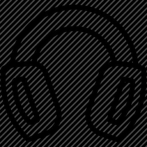 audio, headphone, headset, listen, music, sound icon