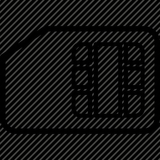 card, data, flash, memory, sd, sim, storage icon