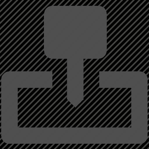 app, mark, pin, web, website icon