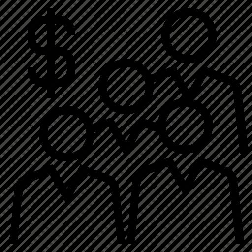 business team, employee, team, teamwork, workforce icon