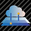cloud, hosting, network, web, web hosting, web server, workstation icon
