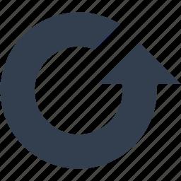 arrow, internet, refresh, web icon
