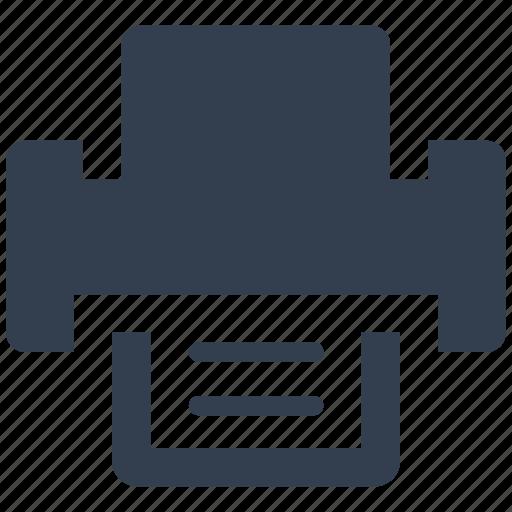 internet, print, printer, web icon