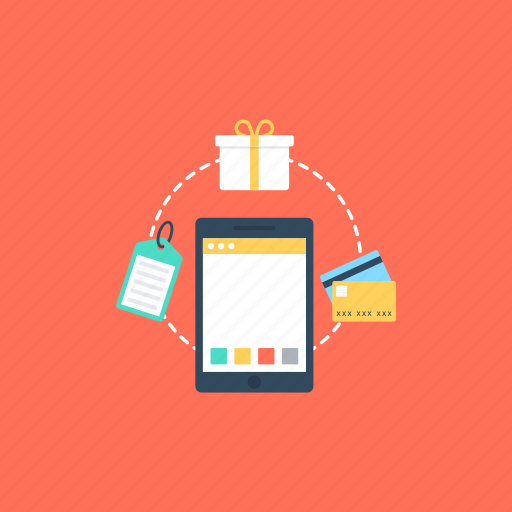 e-commerce, m-commerce, mobile commerce, mobile shopping, online shopping icon