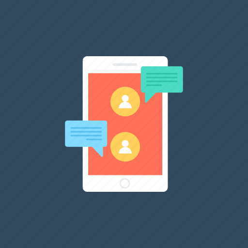 chatting, mobile communication, mobile messaging, mobile messenger, sms icon