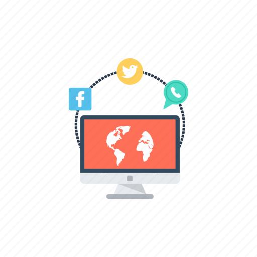 public network, social communication, social media, social network, social site icon