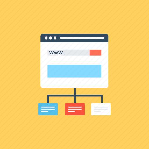 Sitemap, web wireframe, website layout, website template, wireframe ...