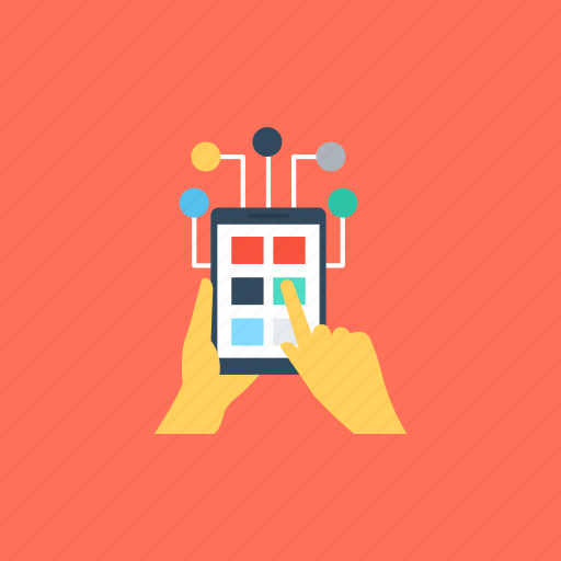 interaction, interaction design, interactive interface, mobile interaction, mobile swipe icon