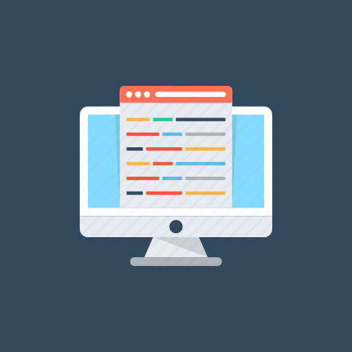 application maintenance, coding, programming, software development, web development icon