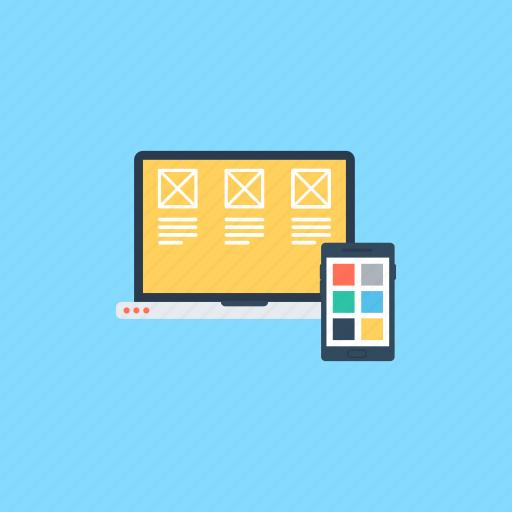 adaptive layout, responsive design, responsive layout, web design, website layout icon
