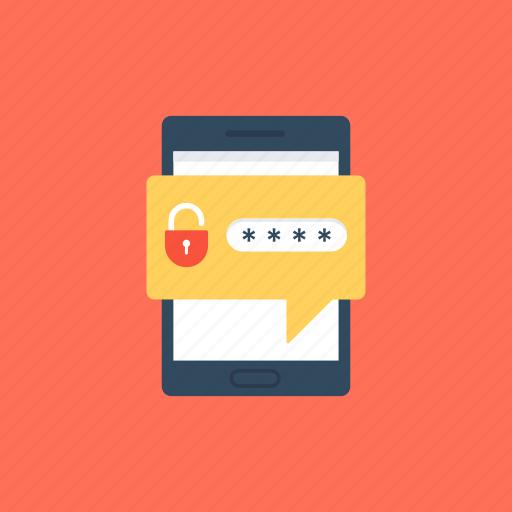 mobile password, mobile security, verbal password, vocal password, voice biometric authentication icon