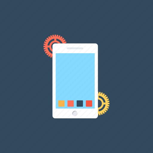 mobile app, mobile app development, mobile app under construction, mobile phone app, mobile template design icon