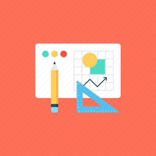 digital drawing, drafting, graphics work, prototyping, sketching icon