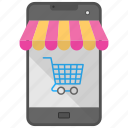 ecommerce, m commerce, mobile shopping, online shopping, shopping app icon