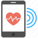 fitness app, fitness tracking, health app, heart rate app, pulse monitor app icon