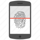 biometric, finger scanning, fingerprint recognition, identification, thumbprint icon