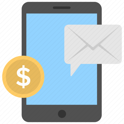 banking app, commerce, mobile banking, sms alerts, sms banking icon