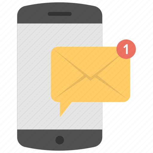 communication, email marketing, inbox message, mobile message, mobile notification icon