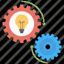 creative process, creativity, idea generation, idea implementation, imagination icon