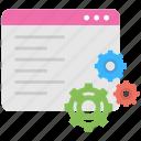 coding, landing page, programming, web development, web setting icon