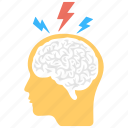 brainstorming, creative brain, creative thinking, intelligent management, thinking process icon