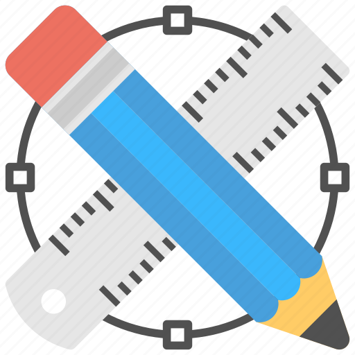 Drafting tools, drawing tools, pencil, ruler, scale icon - Download on Iconfinder