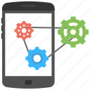 api interface, application software, mobile app development, mobile apps, mobile programming icon