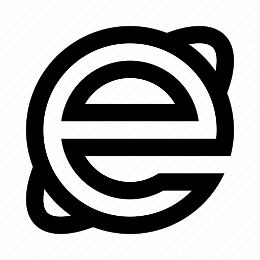 browser, edge, ie, internet, microsoft icon