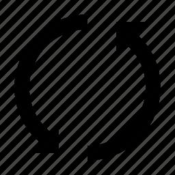 arrow, arrows, circular arrow, rotating, symbol, ui icon