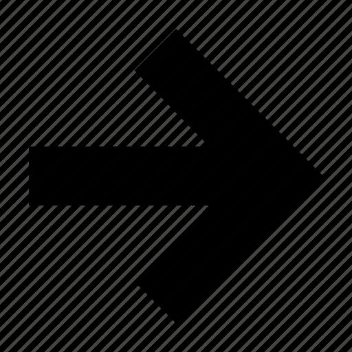 arrow, arrows, csignal, pointing, right, symbol, ui icon