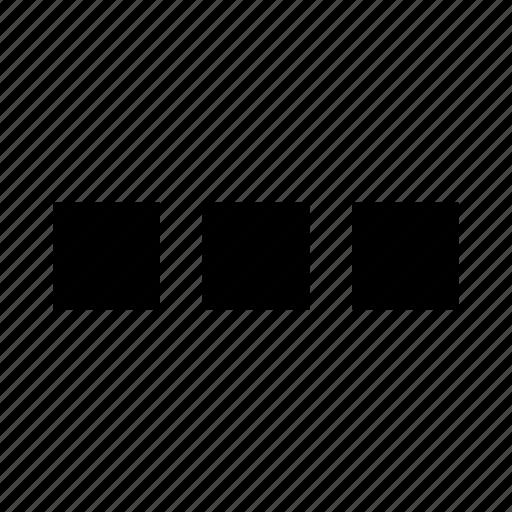 admin ui, button, dots, interface, menu, squares, three icon