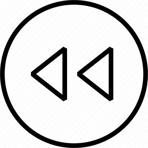 arrow, back, music, rewind icon