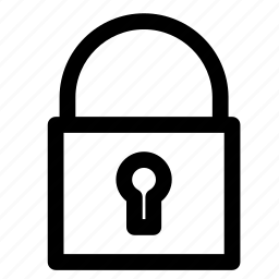 closed, key, lock icon