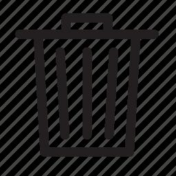 bin, delete, dusbin, garbage, trash, wastage icon