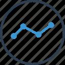 analytics, data, share icon