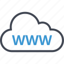 cloud, online, website, www icon