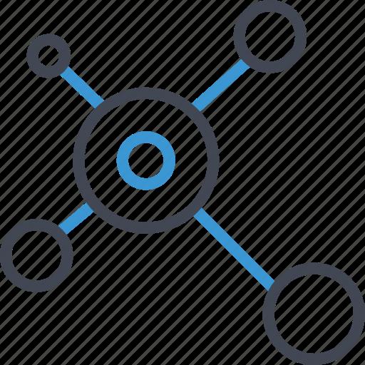 analytics, analyze, connect icon